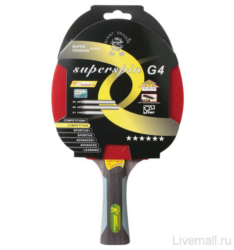 Ракетка для настольного тенниса Giant Dragon SuperSpin от Дом Спорта