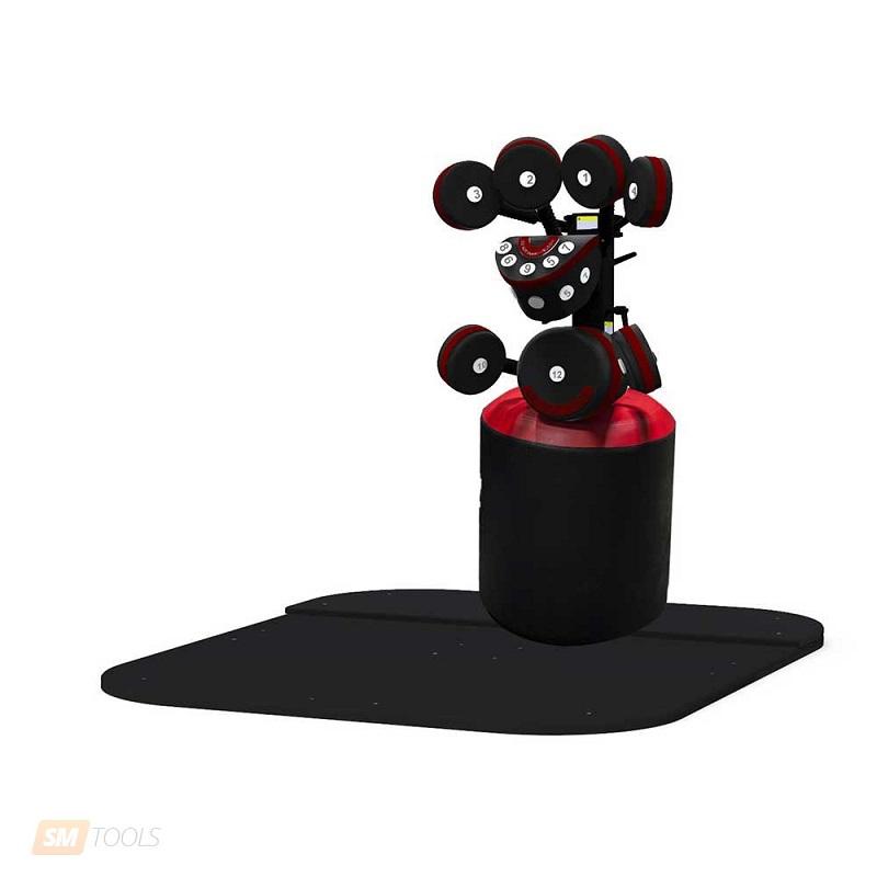 Подушка для ударов ногами для тренажера БоксМастер Star Trac ST\731-5674Оборудование для бокса<br>Тренажер-опция BoxMaster 731-5674 от компании StarTrac – это отличное дополнение к модели BoxMaster K9403 (станция для бокса с базовой основой). При помощи данного тренажера-опции возможно тренировать и отрабатывать удары как руками, так и ногами.Обивочное покрытие подушки - высококачественная натуральная кожа, и это важное преимущество данного тренажера. Черно-красное цветовое исполнение.Отличие тренажера BoxMaster от тренажеров конкурентов – моделирование положения соперника во время нанесения ударов за счет максимально эффективного расположения подушек.Важным преимуществом является система поглощения наносимых ударов, что значительно снижает вероятность получения травм.<br>