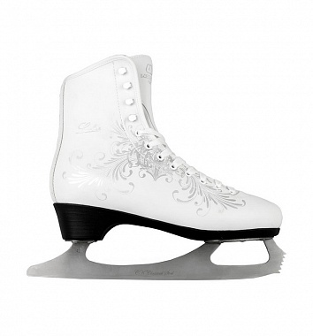 Купить Фигурные коньки СК Ladies Lux Fur Corso белый,