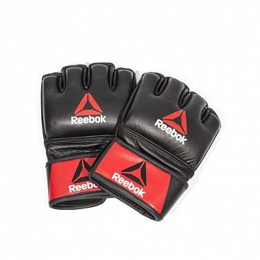 Купить Перчатки для MMA Reebok Combat Leather Glove - Small RSCB-10310RDBK,