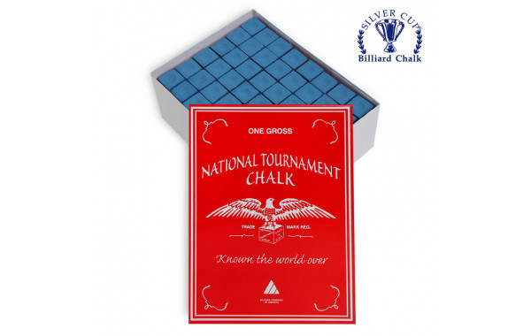 Мел Silver Cup National Tournament Chalk Blue 144шт. 600_380