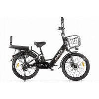 Велогибрид Green City e-ALFA Fat 022302-2160 черный