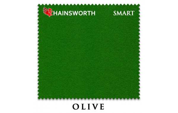 Сукно Hainsworth Smart Snooker 195см Olive 600_380
