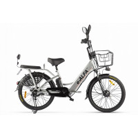 Велогибрид Green City e-ALFA new 022301-2152 серебристый
