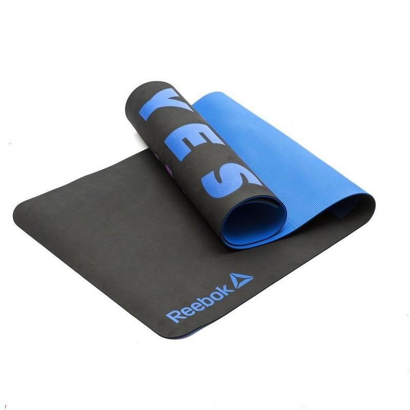 Тренировочный коврик для йоги Reebok RAYG-11040POE-YS, YES I CAN