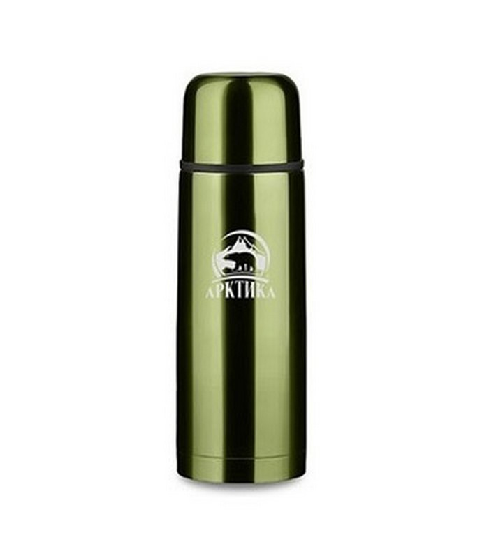 Термос бытовой, вакуумный, питьевой 0,5 л Арктика 102-500, зеленый