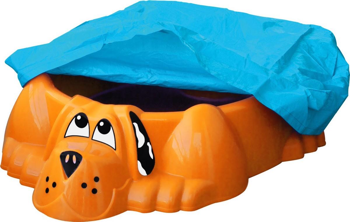 Песочница-бассейн PalPlay Собачка  покрытием 431 оранжевый
