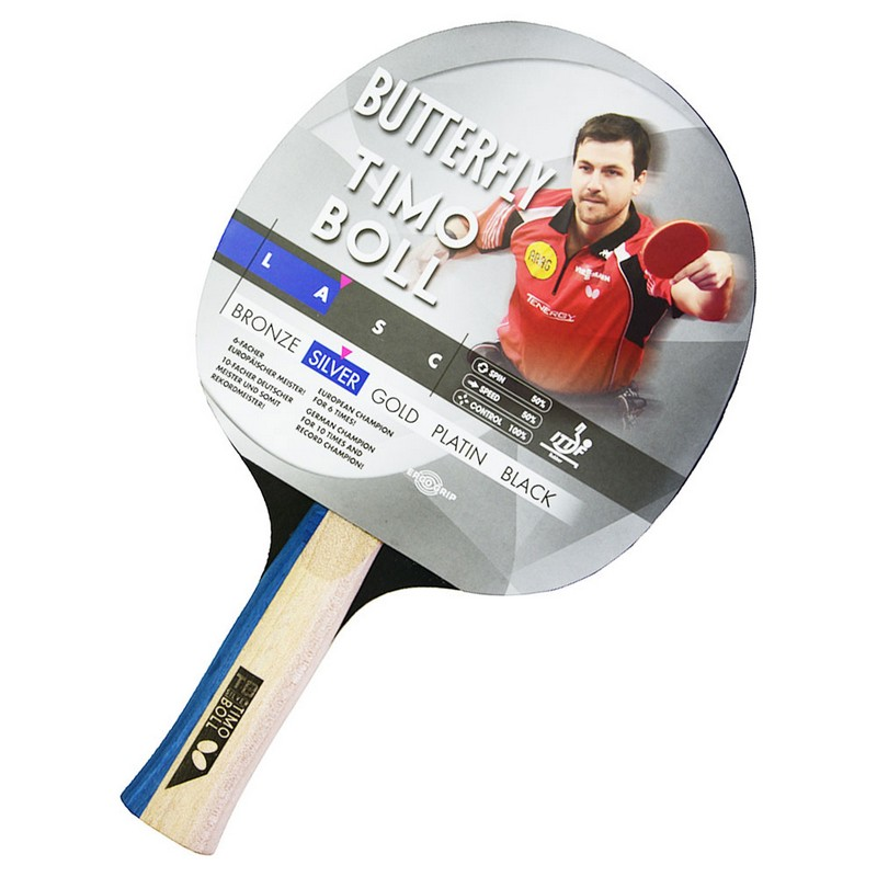 Ракетка для настольного тенниса Buttefly Timo Boll Silver AN ракетка для настольного тенниса torneo tour plustable tennis bat ti b3000