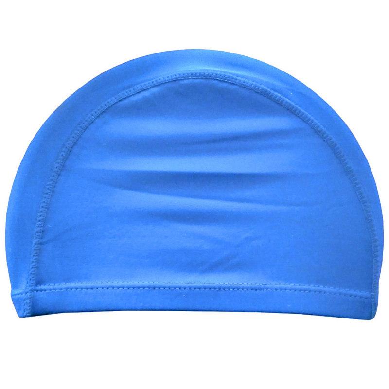 Купить Шапочка для плавания взрослая текстиль (голубая) C33535, NoBrand