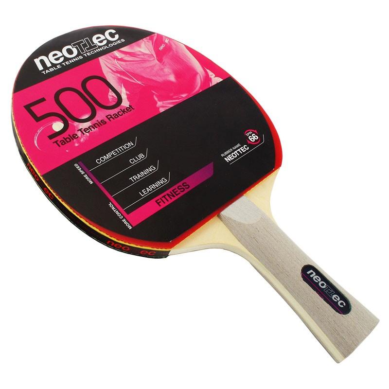 Ракетка для настольного тенниса Neottec 500 коническая ручка мяч для настольного тенниса neottec training диаметр 40 мм в упаковке 144 шт белые