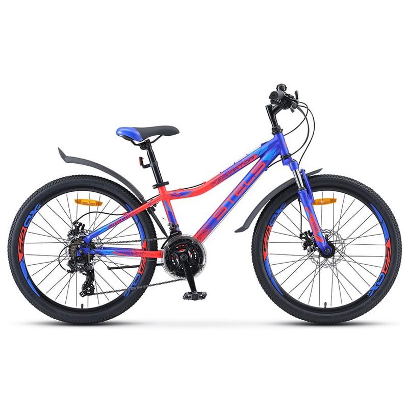 Купить Велосипед Stels Navigator 24 410 MD V010 2019 СинийНеоновый-красный (LU091556),