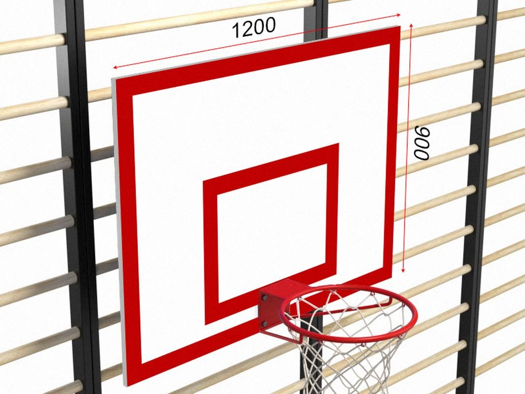 Купить Щит баскетбольный навесной с фермой Glav 01.209,