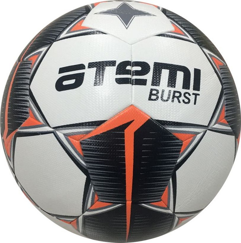 Купить Мяч футбольный Atemi Burst р. 5,белый/черн/красн,