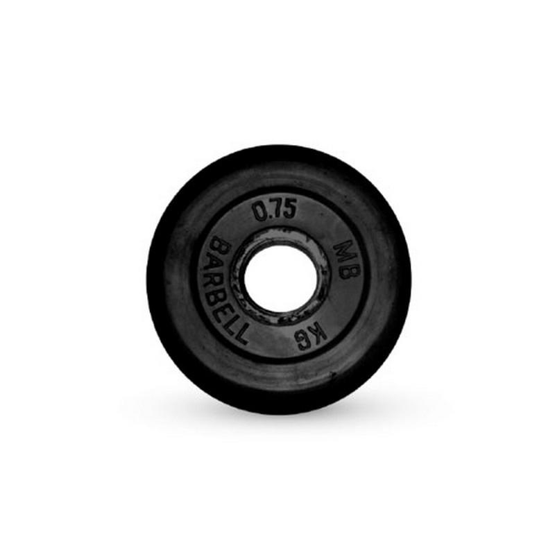 Диск обрезиненный 26 мм 0,75 кг MBBarbell MB-PltB26-0,75