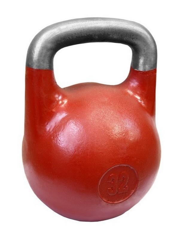 Купить Гиря Iron King 32 кг для соревнований ВФГС (красная),