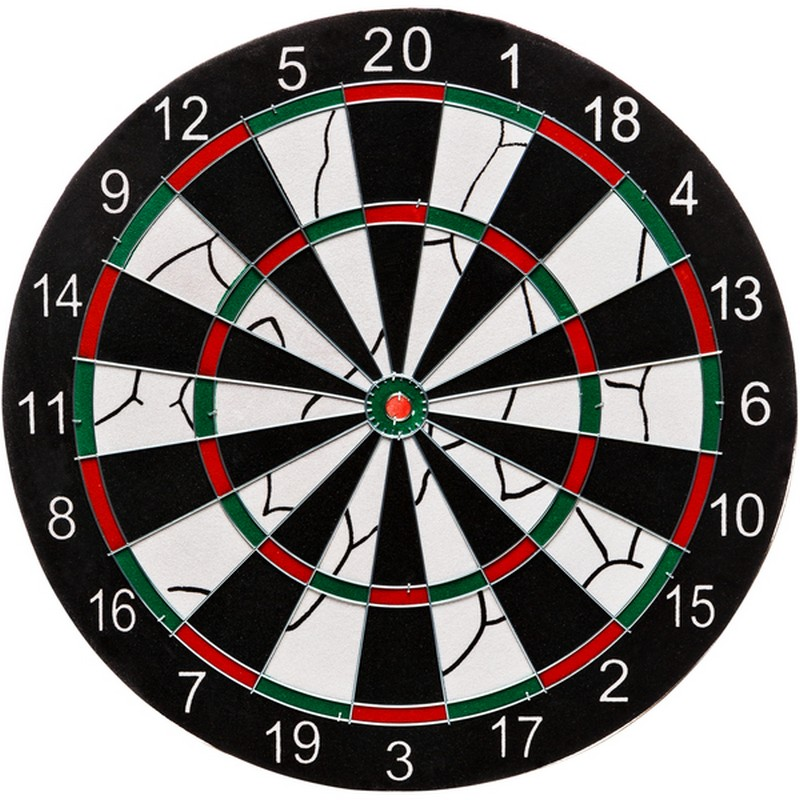Набор для дартса Torneo TRN-DART17 мишень 43 см, дротики 6 шт torneo мяч гимнастический torneo 65 см