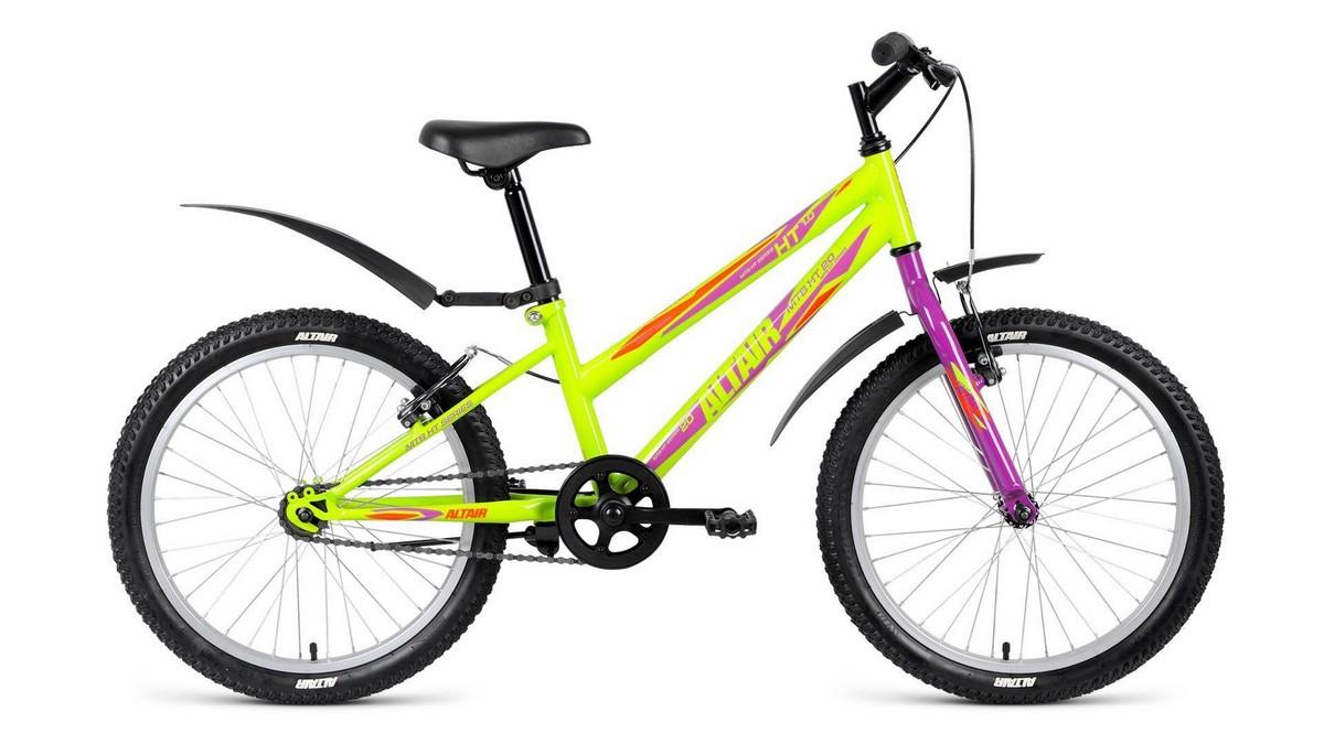 Подростковый велосипед Altair MTB HT 20 1.0 Lady (2018) зелёный