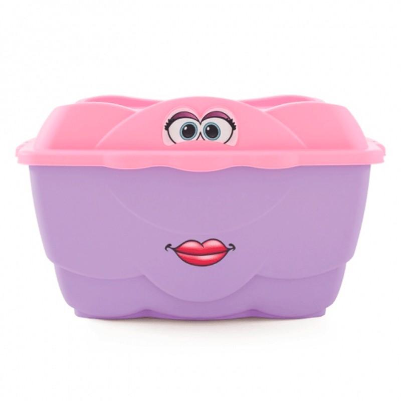Ящик для игрушек Step2 Веселый контейнер 420404 розовый