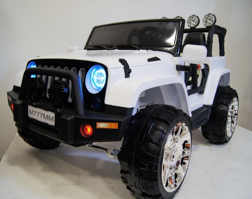 Купить Электромобиль River-Toys Jeep M777MM 4x4 белый, Детские электромобили