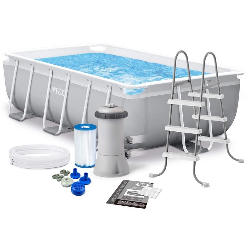 Купить Каркасный бассейн прямоугольный 400х200x100cм Intex Prism Frametm Rectangular 26788,