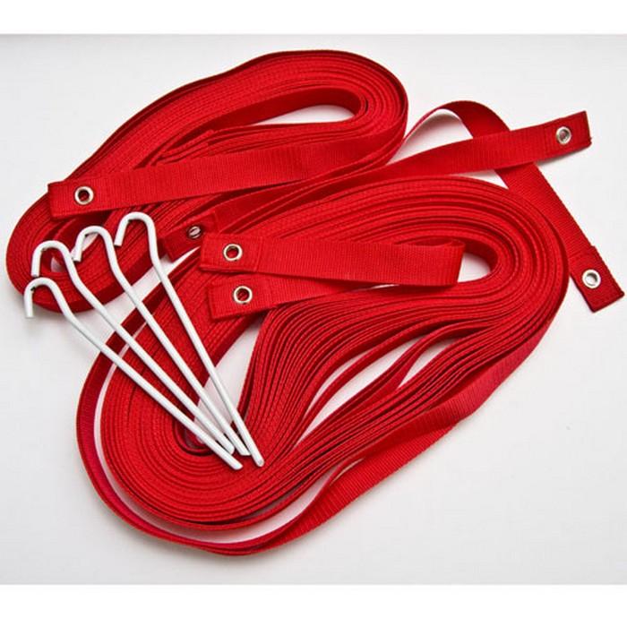 Купить Комплект для разметки площадки пляжного волейбола Kv.REZAC 15095874 красный, с якорями, Kv.Rezac