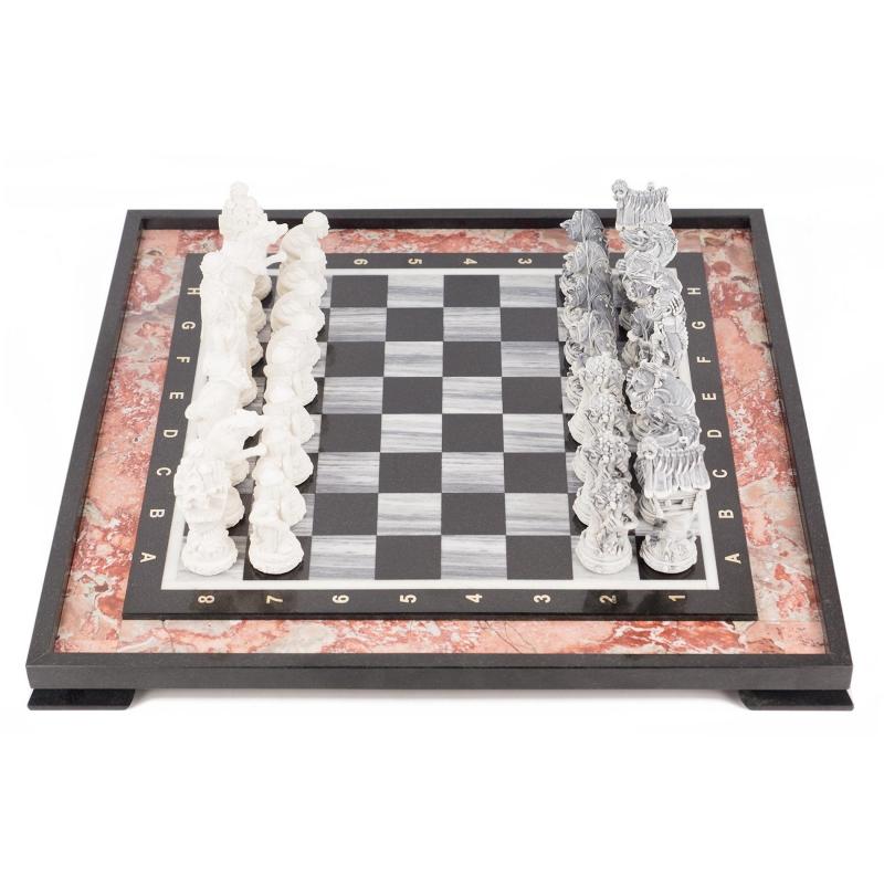 Шахматы Русские сказки креноид, мрамор 8850, NoBrand, Шахматы, шашки, нарды  - купить со скидкой