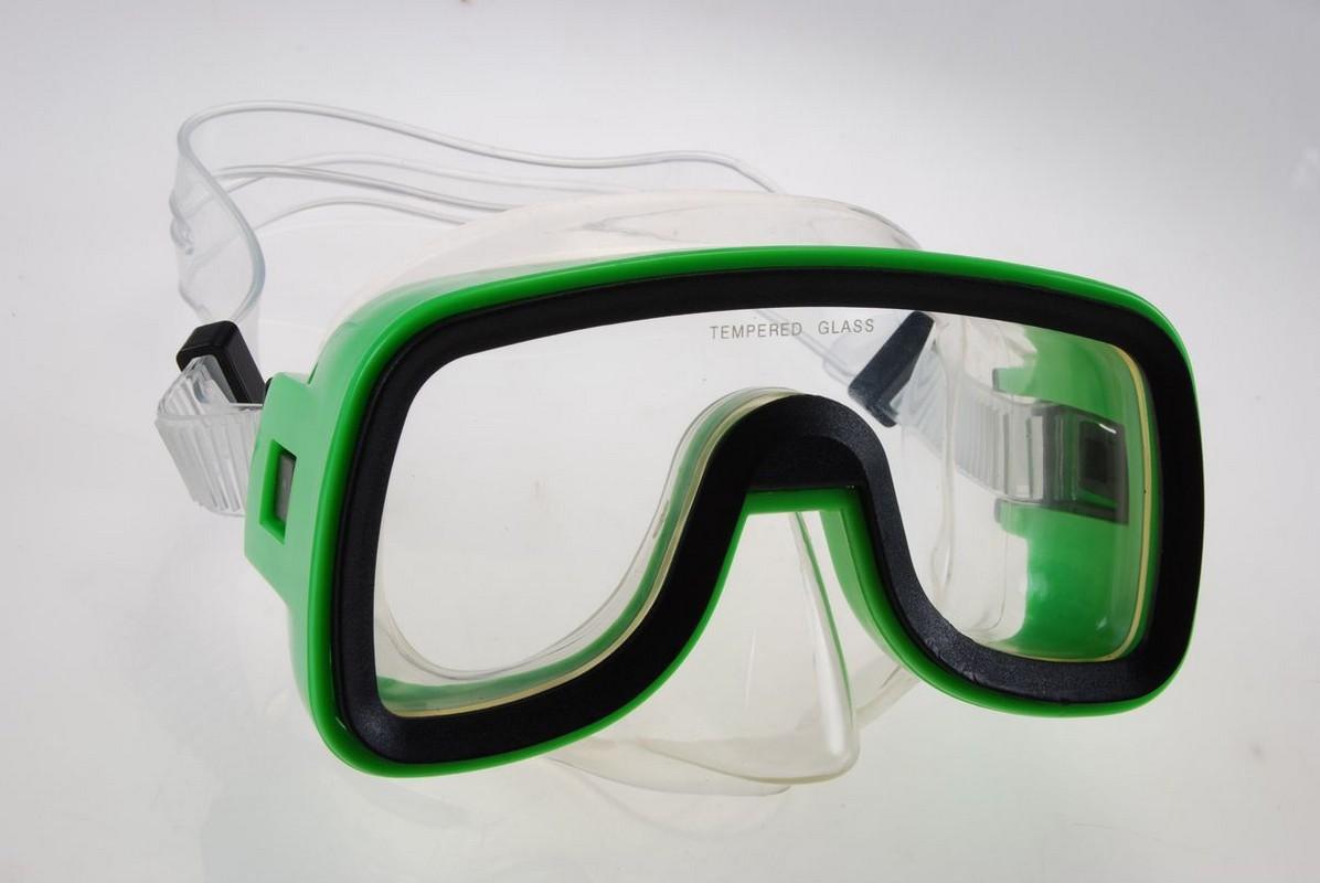 Маска для плавания Wave Diving mask PVC маска Green M-1319