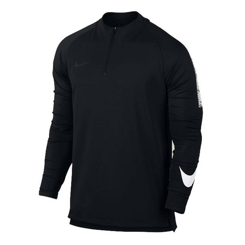 Свитер тренировочный Nike Dry Sqd Dril Top 859197-010 черн/бел. свитера толстовки nike свитер тренировочный nike shld sqd dril top 888123 481