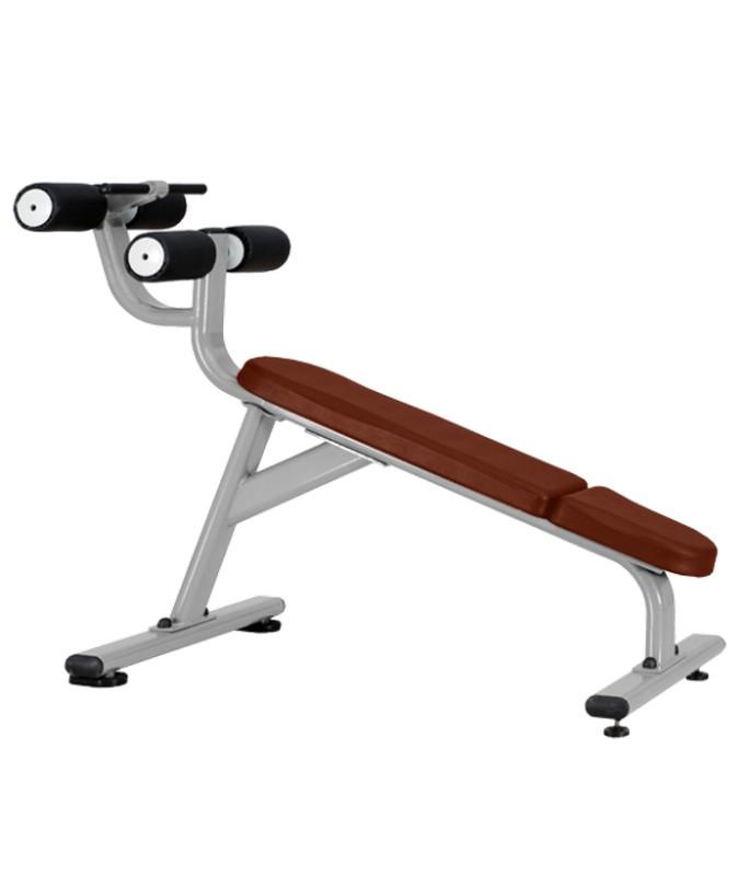 Скамья для пресса с отрицательным наклоном Bronze Gym J-028 горизонтальная тяга под наклоном bronze gym xa 06