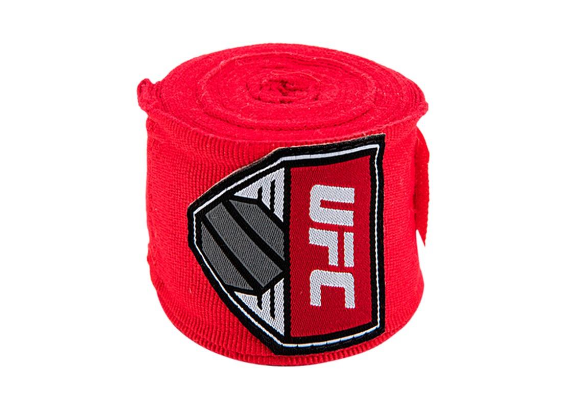 Купить Бинт боксерский UFC l4,5 м красный,