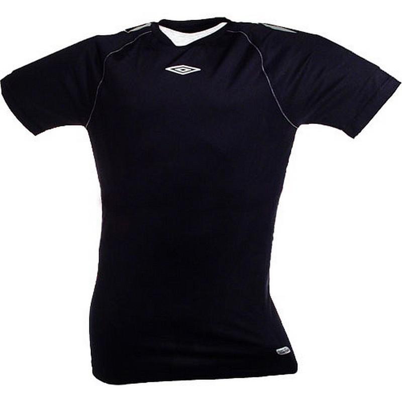 Термофутболка Umbro Men's poly s/s jersey тренировочная (218) чер/сереб.