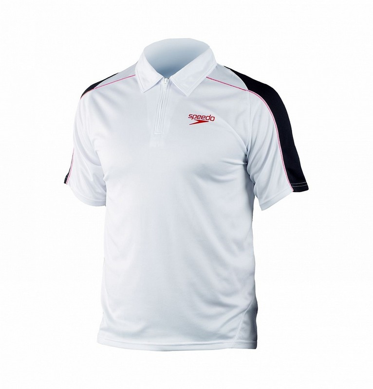 Футболка-поло Speedo Rolle Unisex Technical Polo Shirt (002) белая