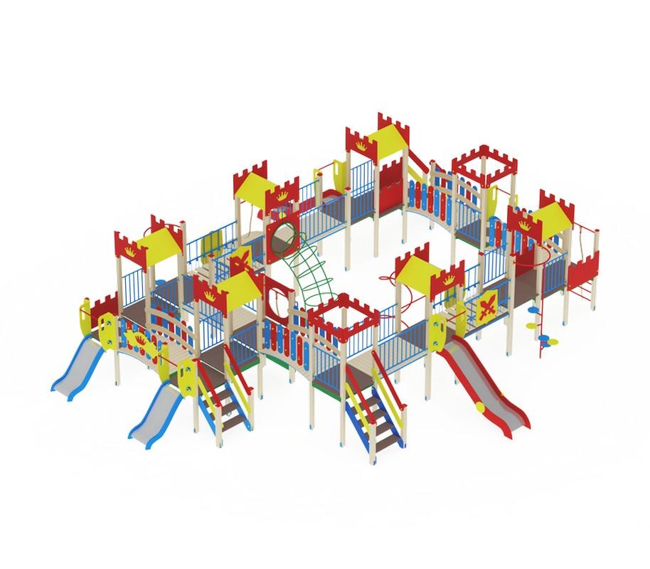 Купить Детский игровой комплекс Замок горкаН1200горкаН900 МАФ1324х1055х350 см ДИК1811, МАФ