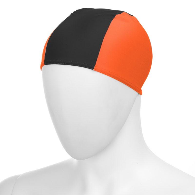 Купить Шапочка для плавания Fashy Fabric Cap 3242-00-93 полиамид/эластан 3 панели, оранжево-черный,