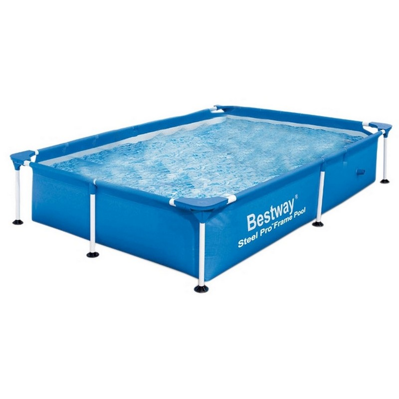 Бассейн прямоугольный на стойках 239х150х58 см Bestway 56402 каркасный бассейн bestway 221х150х43см прямоугольный 56401 bw