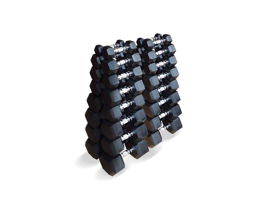 Набор гексагональных гантелей Original Fit.Tools 16 пар от 1 до 25 кг FT-HEX-SET-335