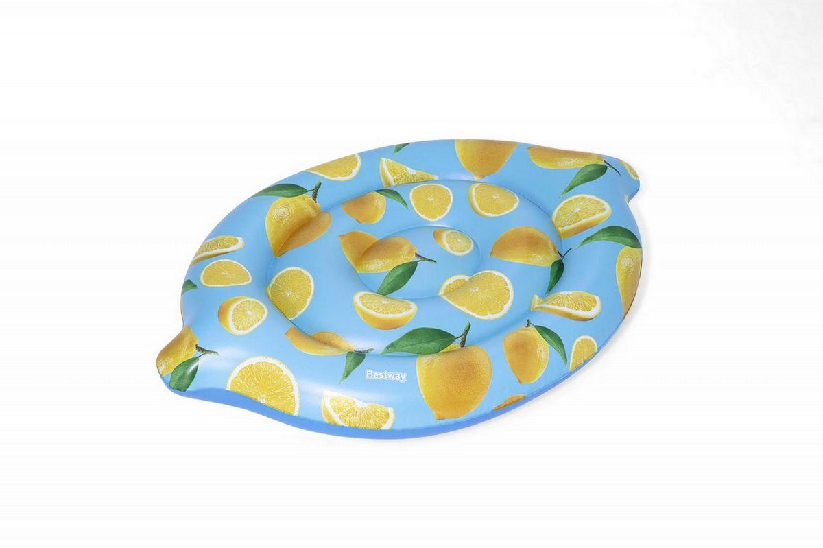 Купить Надувной матрас-остров для плавания 176х122см Scentsational с запахом лимона Bestway 43392,