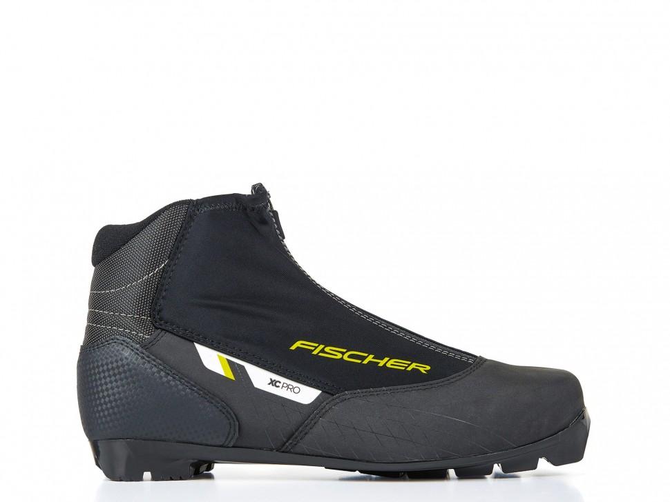 Купить Лыжные ботинки Fischer XC Pro Black Yellow (S21820) (черно/желтый),