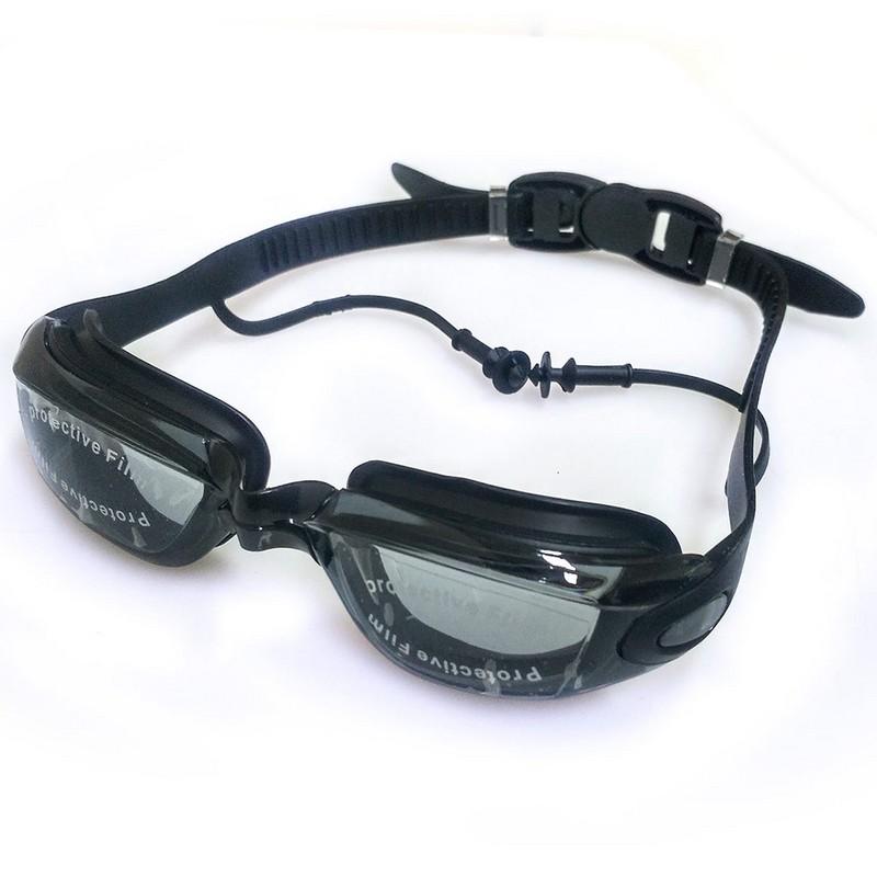 Купить Очки для плавания B27495-5 черные, NoBrand