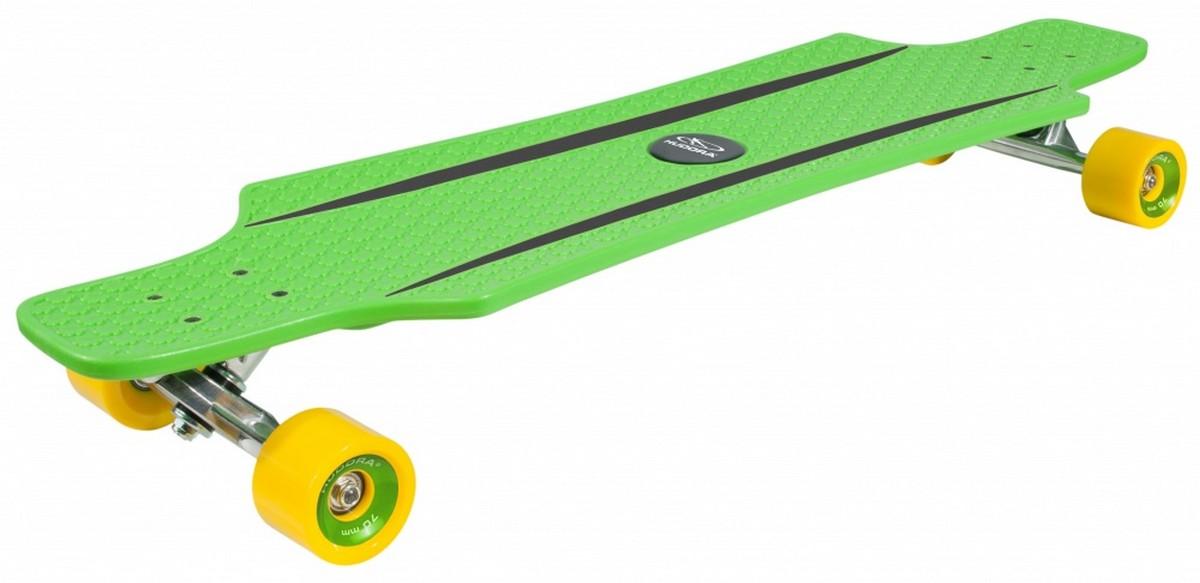 Лонгборд Hudora CruiseStar Green/yellow скейт hudora cruisestar carving & cruising red