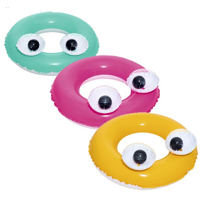 Купить Надувной круг для плавания Bestway Глазастики, 61 см, три цвета 36114,