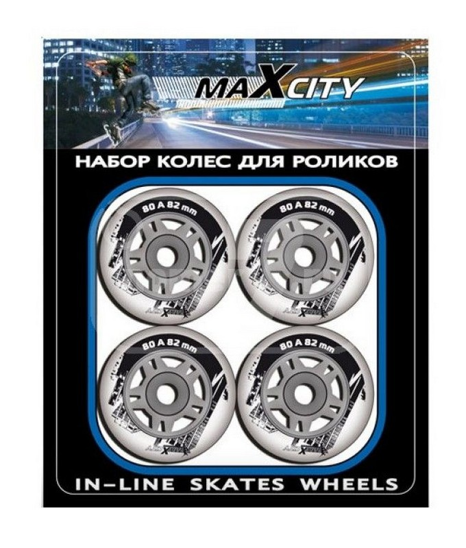 Роликовые колеса MaxCity LV-W64 PVC роликовые коньки maxcity expert female