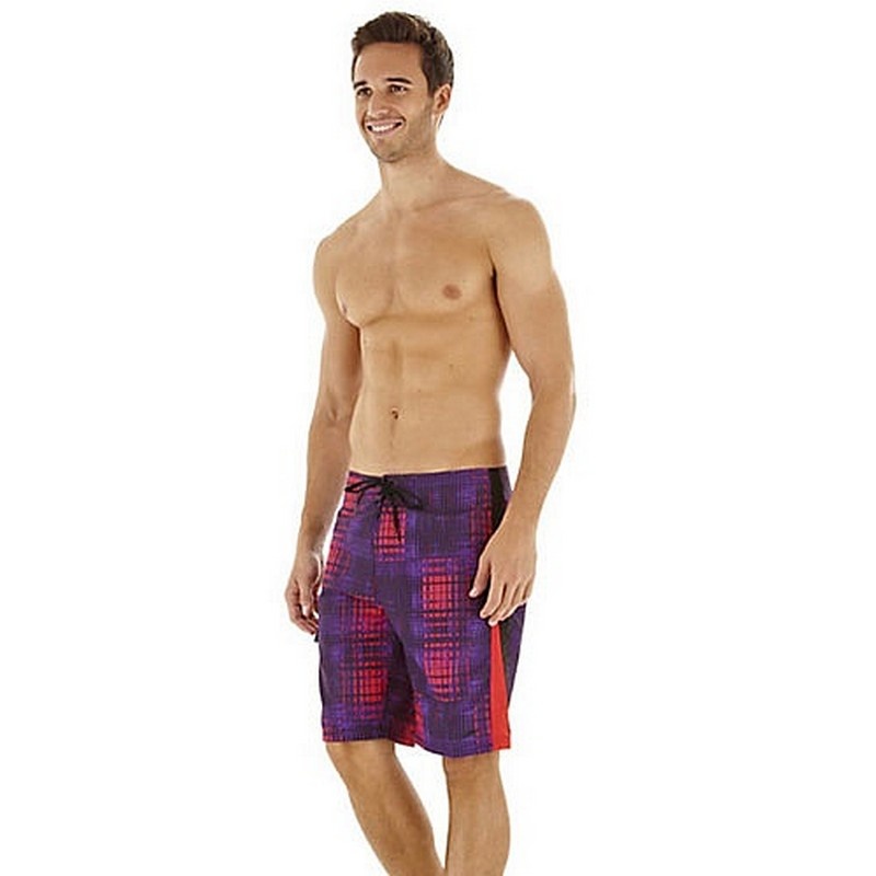 Шорты пляжные Speedo Infinity Pool Printed Check 20' Watershort (8197) пурпур/красн.