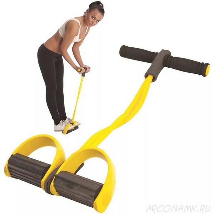 Купить Тренажёр для тела с эспандерами (серый) Фитнес-тренер Body Trimmer/Pull Reducer C28943, NoBrand