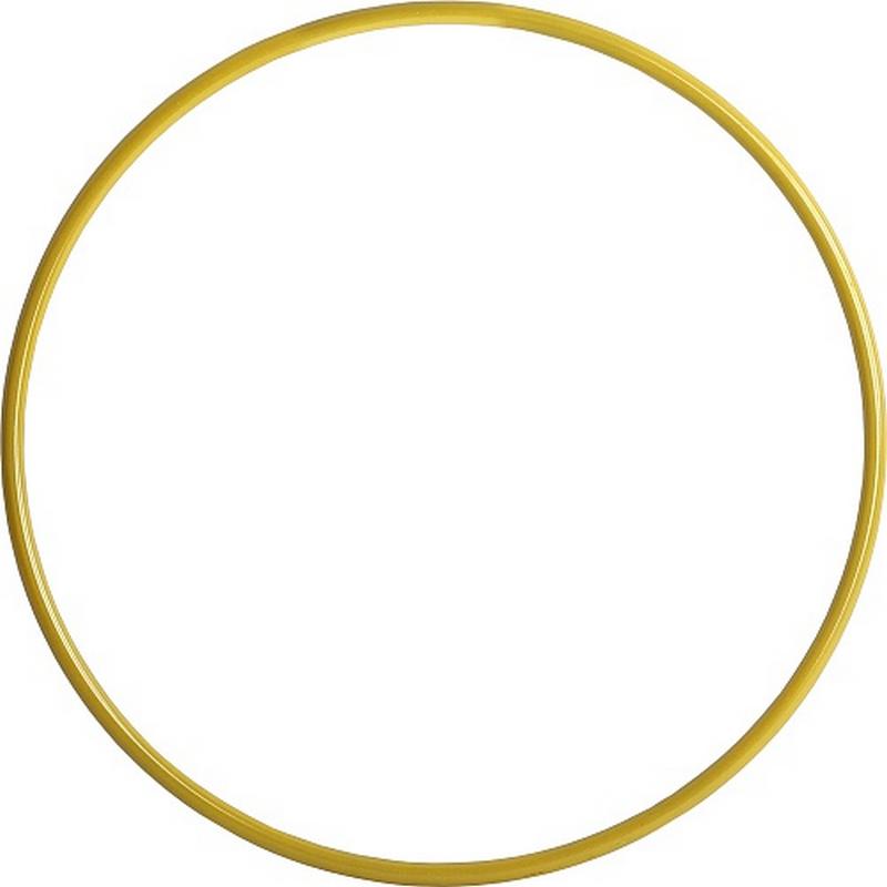 Обруч стальной 900мм утяжеленный окрашенный (желтый) 850 гр