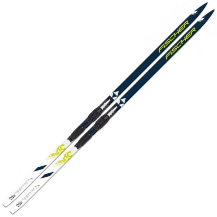 Купить Лыжный комплект Fischer Ridge Crown с креплениями NNN Step (черно/белый) N79618,