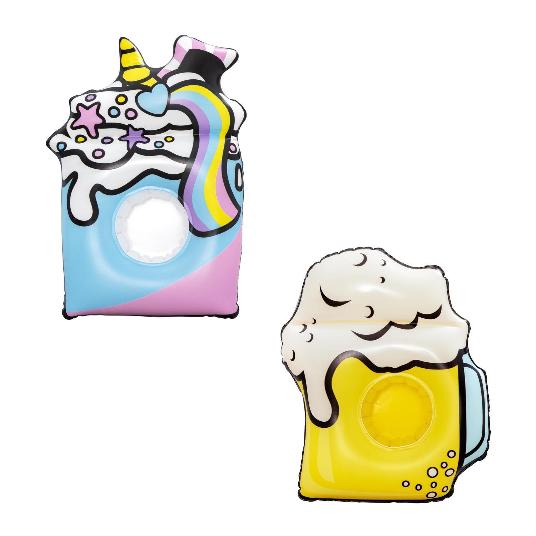 Купить Надувной плавающий держатель для напитков Bestway Лето комплект из 3 шт, 2 вида 34132,