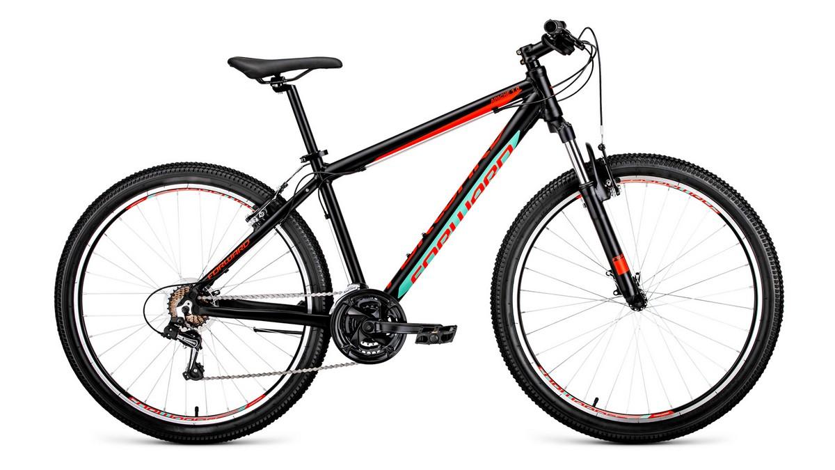 Купить Велосипед 27,5 Forward Apache 1.0 ЧерныйКрасный матовый 18-19 г, (велосипеды)