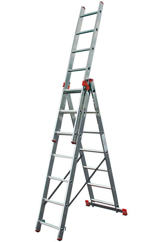 Универсальная лестница Krause MONTO TRIBILO 3х6 перекладин, 185-355 см 120595 лестница krause tribilo 121226
