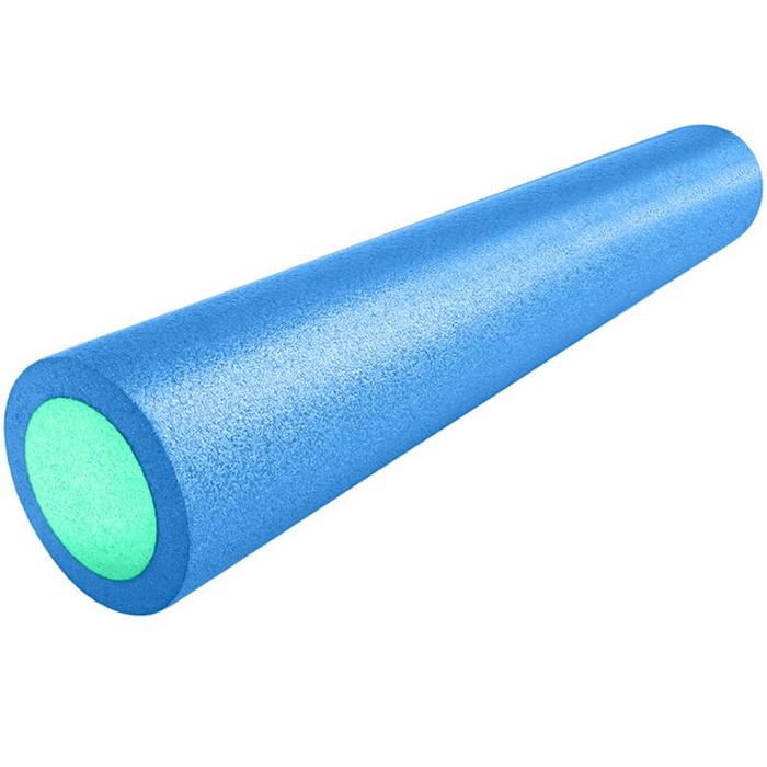 Купить Ролик для йоги полнотелый 2-х цветный (сине-зеленый) 90х15см. B31513, NoBrand